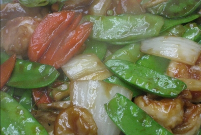 34. Shrimp with Snow Peas